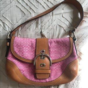 Coach Pink Small Handbag - Perfect Condition